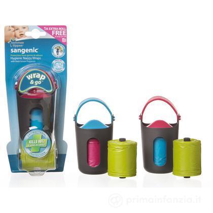 Dispenser con sacchetti per pannolini Wrap & Go