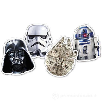 4 Piatti sagomati Star Wars