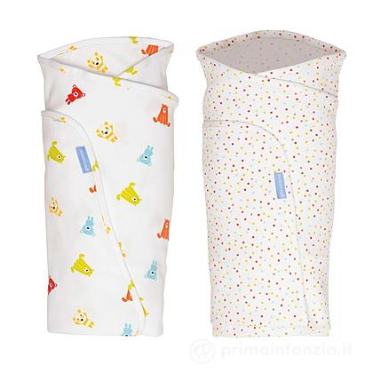 2 Copertine Swaddle Spotty Bear