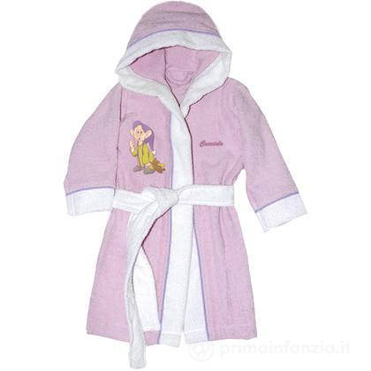 Accappatoio Disney Baby Sette Nani rosa