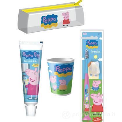 Pochette con kit da viaggio Peppa Pig