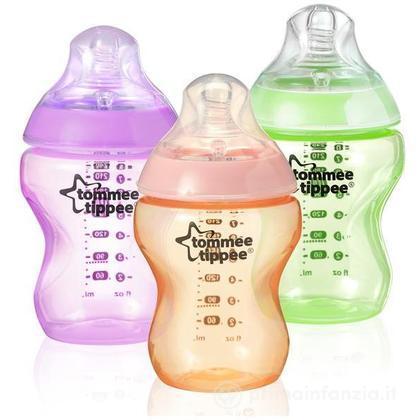 3 Biberon 260 ml Colour My World Girl