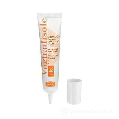 Crema solare-gel contorno occhi protezione media SPF 20