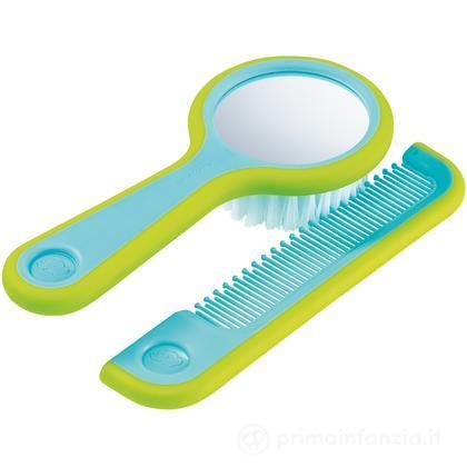 Spazzola con specchio e pettine