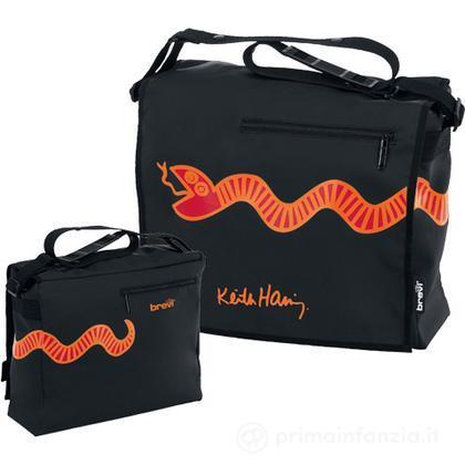 Borsa fasciatoio black Keith Haring