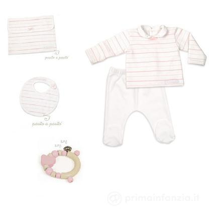 Set primi abiti rosa 3 mesi
