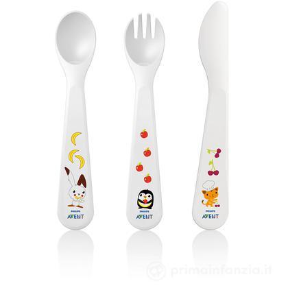 Coltello, forchetta e cucchiaino 18 m+