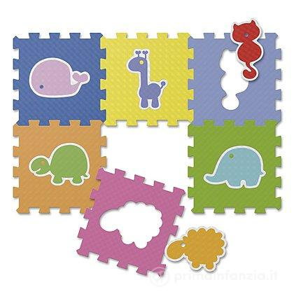 Tappeto Puzzle Animali