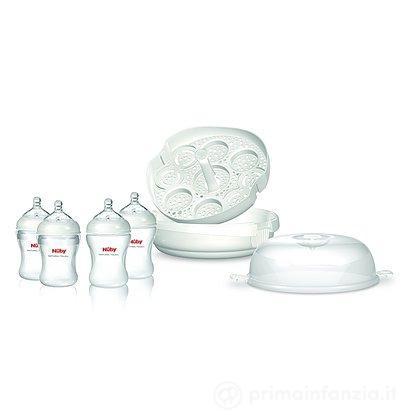Sterilizzatore per microonde con 4 biberon