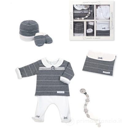 Set primi abiti bimba grigio 1 mese