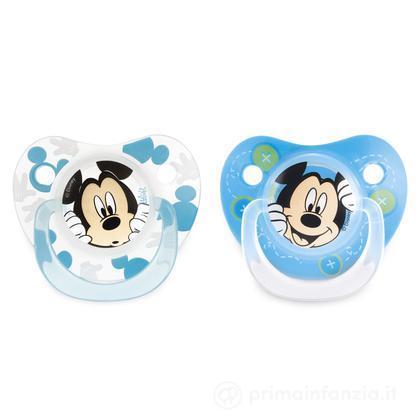 2 succhietti Disney Mickey in silicone 3m