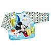 Bavaglino Grembiulino con maniche Mickey