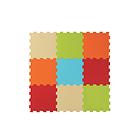Tappeto Puzzle Liscio 9 pz