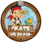 Segnale auto baby on board Jake il pirata