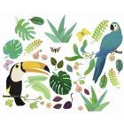 Adesivi per Finestra Jungle 30 pz