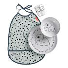 Set Pappa Happy Dots Celeste