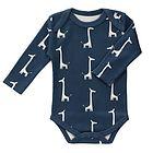 Body Manica Lunga Cotone Bio Giraffa Blue