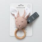 Massaggiagengive in legno Coniglietto lavorato a maglia