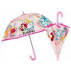 Ombrello manuale trasparente Principesse