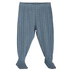 Pantalone lungo con piedi in Cotone Bio Wave 9 mesi