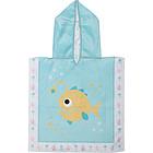 Accappatoio Poncho Reversibile 0-12 mesi Pesce