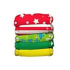 Box 5 Pannolini Lavabili Taglia Unica + 5 Inserti Circus Verde Cotone Organico