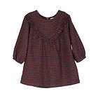 Vestito Bambina in Cotone Bio Spazzolato Checks 6 mesi