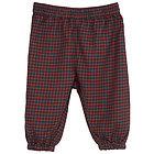 Pantalone lungo in Cotone Bio Spazzolato Checks 6 mesi