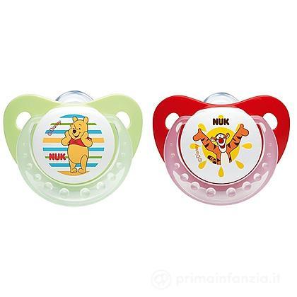 2 Succhietti Winnie The Pooh in silicone misura 2