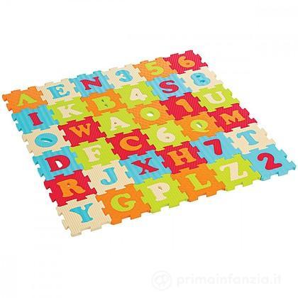 Tappeto Gioco Puzzle Lettere e Numeri 36 pz