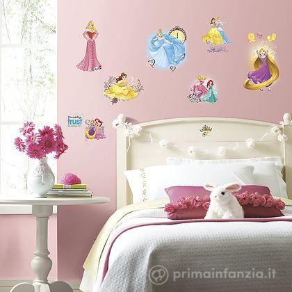 Adesivi murali rimovibili Principesse Friendship with Glitter