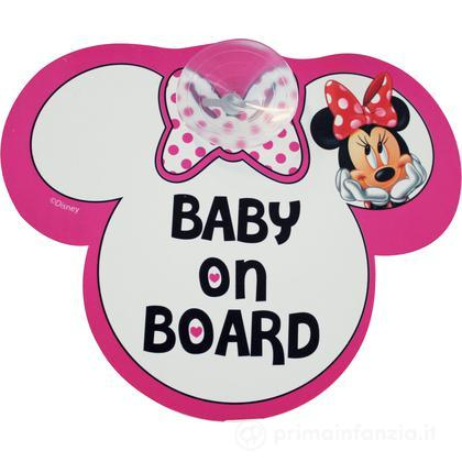"Segnale auto con ventosa ""baby on board"" Minnie"
