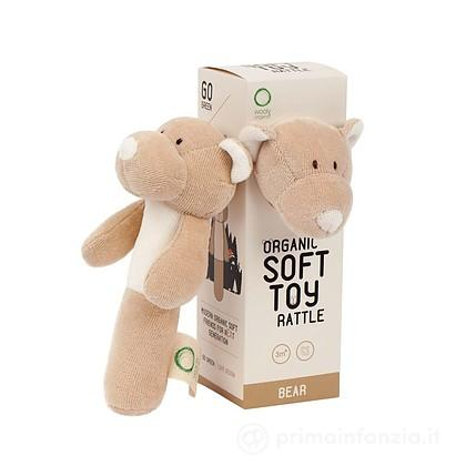 Sonaglio Orsetto Teddy in Cotone Biologico