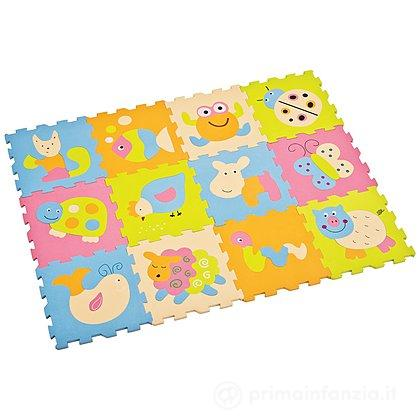 Tappeto Puzzle Animali 12pz