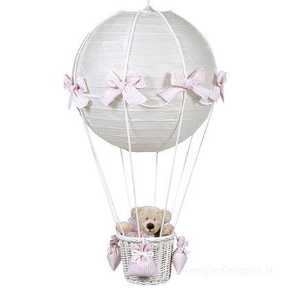 Lampada mongolfiera vichy orsetto