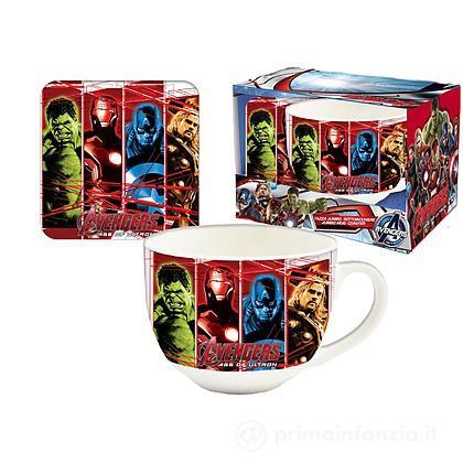 Tazza e Sottobicchiere Avengers