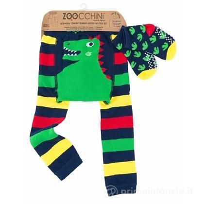 Set Leggings e Calzini Antiscivolo Dinosauro
