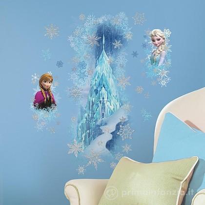 Adesivi murali rimovibili Frozen Ice Palace with Elsa e Anna