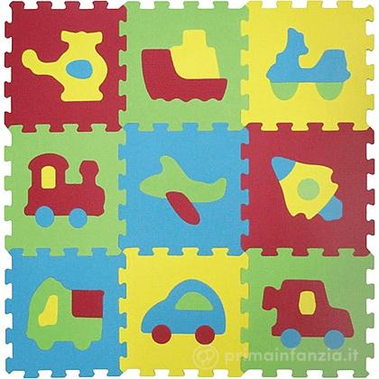 Tappeto Puzzle Trasporti Basic 9pz