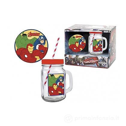 Bicchiere con cannuccia Avenger