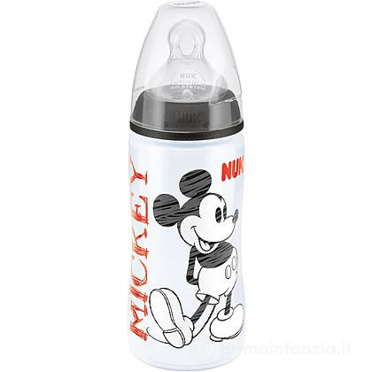 Biberon Disney Mickey Mouse in silicone 300 ml foro M