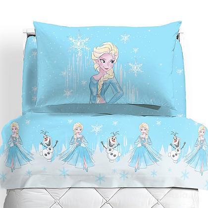 Completo lenzuola flanella Frozen Neve