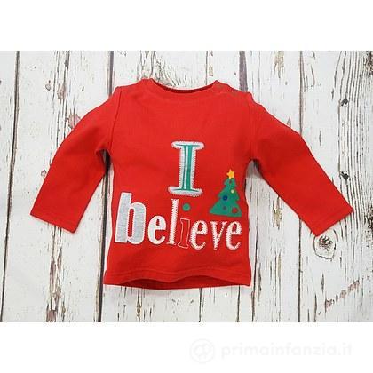 Maglia manica lunga Natale I Believe