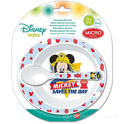 Set Pappa con Cucchiaino Mickey Mouse