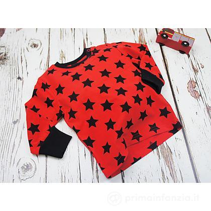 Maglia manica lunga nera e rossa Stella