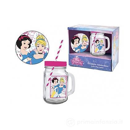 Bicchiere con cannuccia Principesse