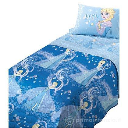 Copriletto trapuntato Frozen Elsa