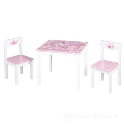 Set tavolo e sedie Principessa