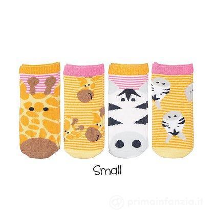 Se 4 paia Calzini Safari Giraffa e Zebra Bambina