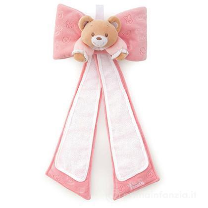 Fiocco nascita Orsetto rosa
